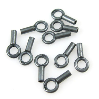 Oxidized Sterling Silver Plain Tube End, 8mm (sold per 10 pcs)