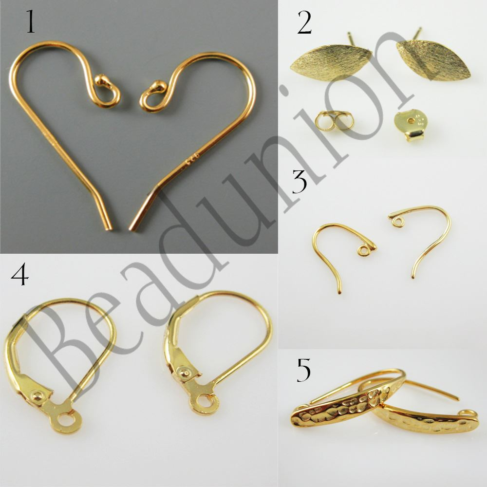 Gemstone Pendant and Earwire-Gold Plated Sterling Silver Earring Kit-Vermeil Earwire,Bezel Gemstome Set-Coin Shape-15mm
