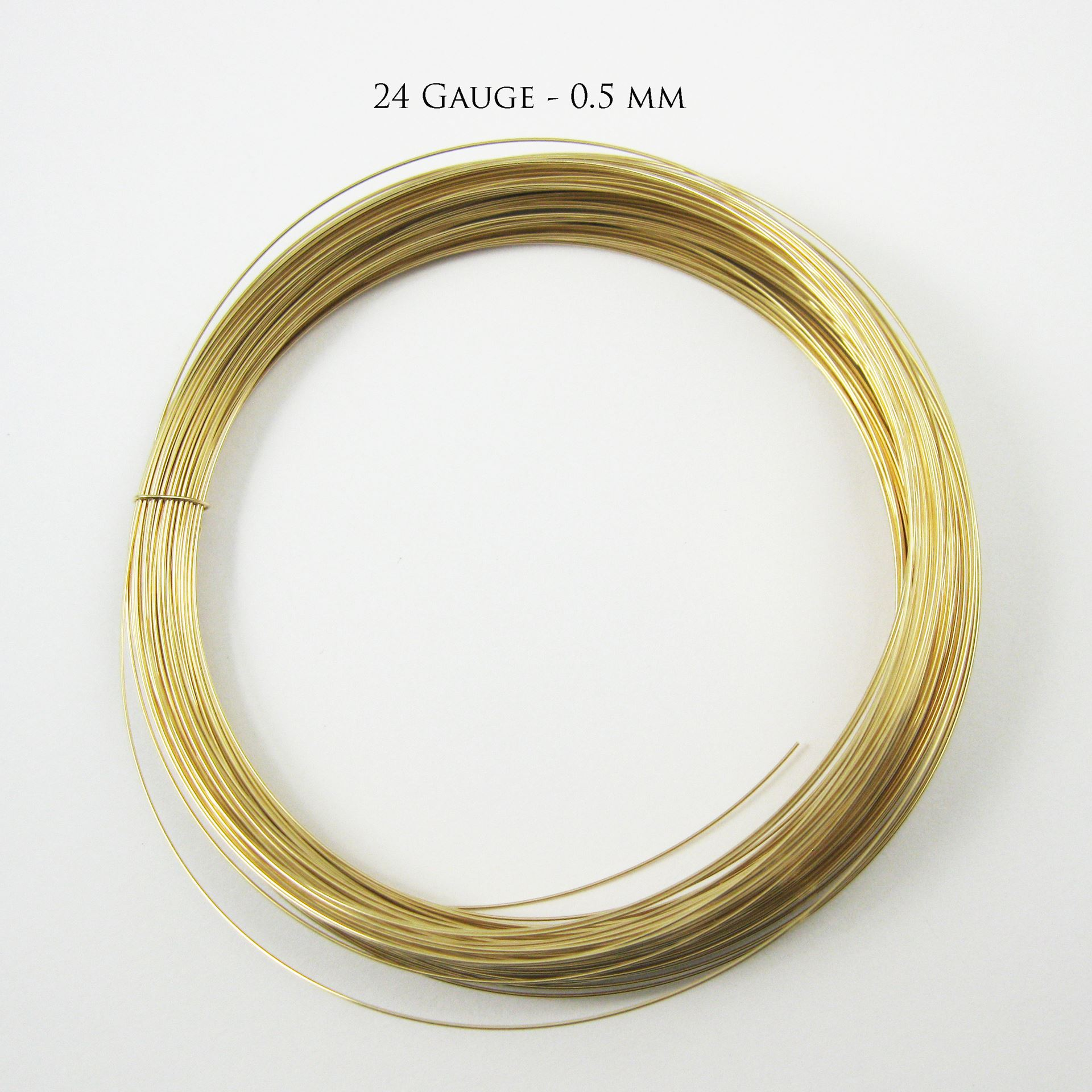 14K Gold Filled Wire -24 ga -0.51mm (Sold Per 3 Feet)