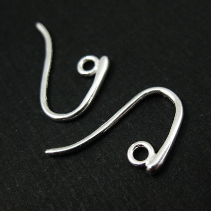 Sterling Silver Smooth, Sexy Earring Hooks (sold per 2 pairs)
