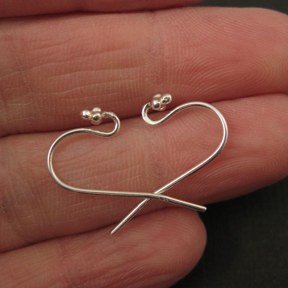 Sterling Silver Fancy Fishhook 4 Ball Flower Tip, Earring Findings (10 pcs - 5 pairs)