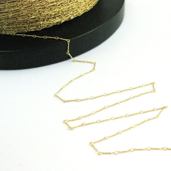 Gold Plated over Sterling Silver Chain - Gold Chain - Unfinished , Bulk Chain, Fancy Twisted Chain