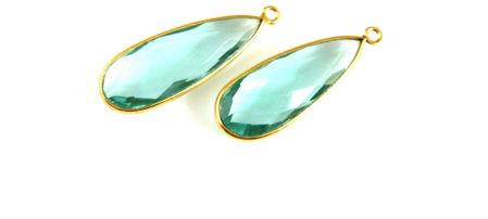 Gold Elongated Teardrop Pendant
