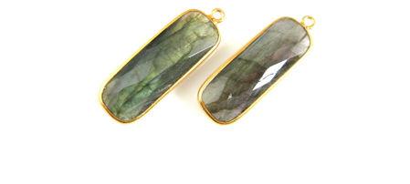Gold Elongated Rectangle Pendant