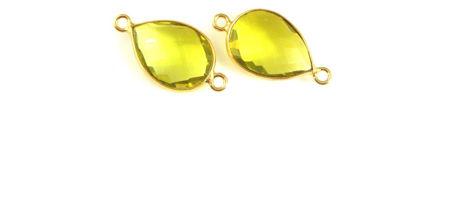 Gold Teardrop Connectors
