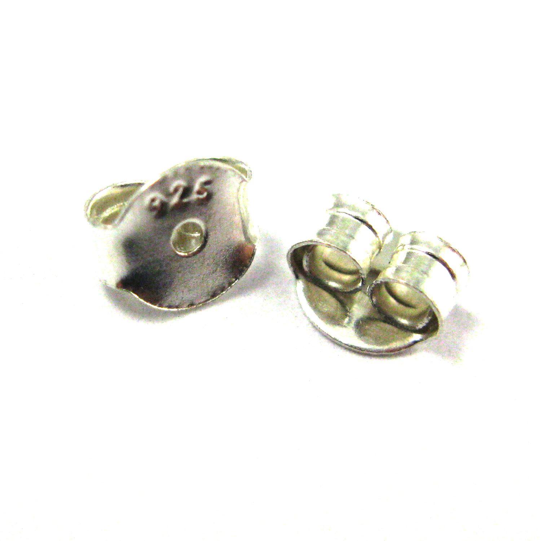 Druzy Earring Studs, Blue Grey Druzy Agate,Gemstone Stud Earrings - Sterling Silver- Triangle 10mm - 1 Pair