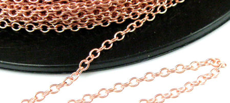 Rose Gold Plated Sterling Silver Chain