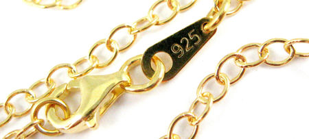 Finished Gold plated Sterling Silver Vermeil Chains