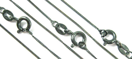 Finished Oxidized Sterling Silver Chains
