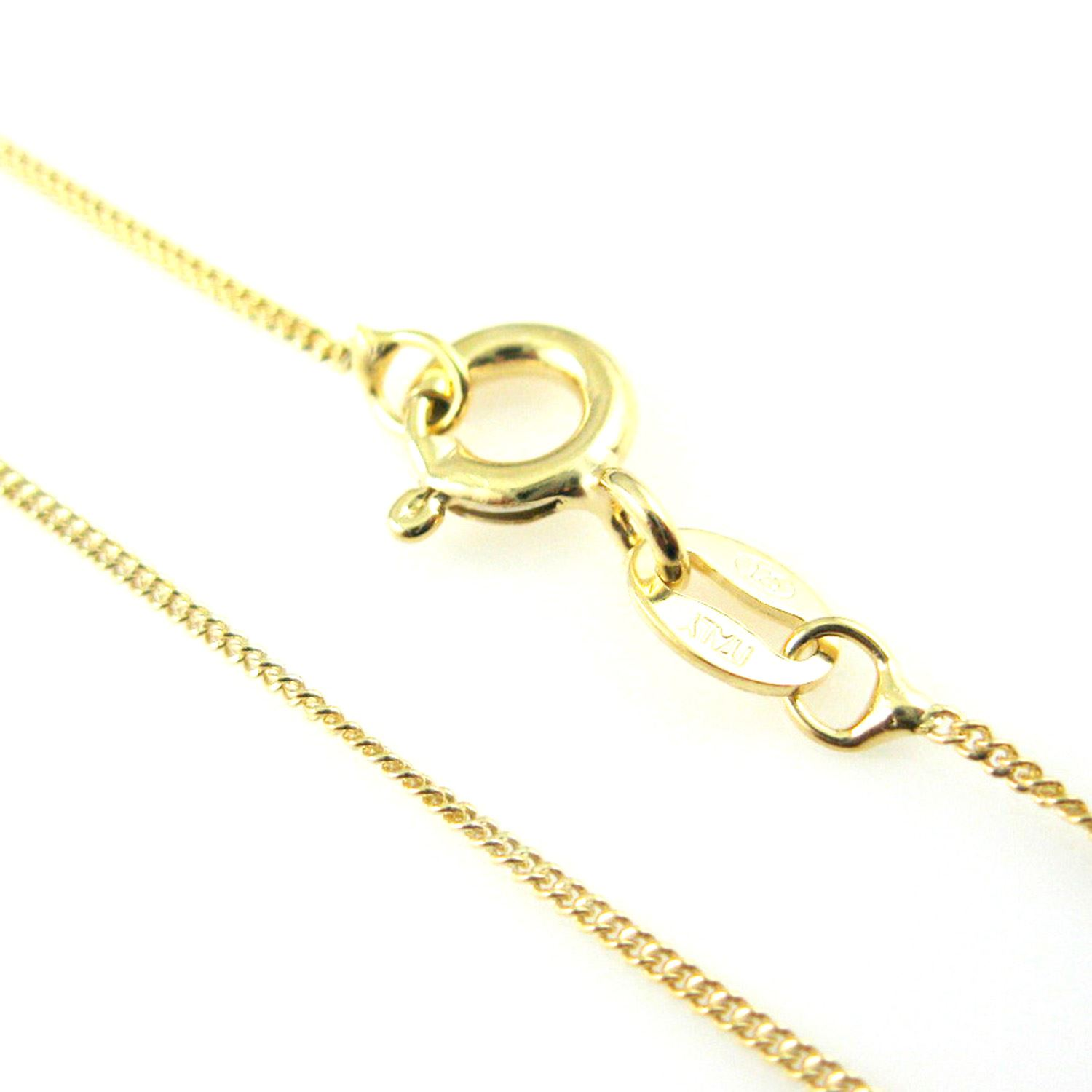 Gold Plated Necklace Chain, Vermeil Sterling Silver Necklace Chain-Bracelet, Anklet - Vermeil Chain Bulk - Tiny Curb Chain-Necklace - All Sizes