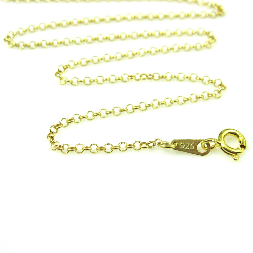 22k Gold plated over Sterling Silver Necklace - Bracelet Chain, Anklet Chain- Long Necklace Rolo Chain Necklace - Gold Necklace - 2mm Rolo Chain - All Sizes