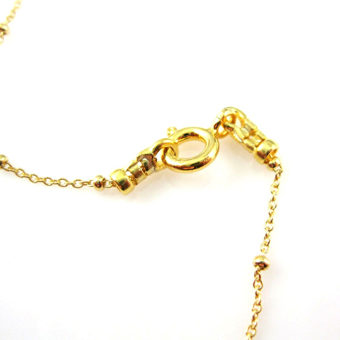 Gold Necklace,Vermeil Sterling Silver Chain Necklace - Bracelet Chain, Anklet Chain - Cable  Beaded Chain - Satellite Necklace Chain- Long Necklace - All Sizes