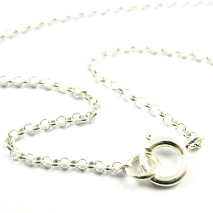 Rhodium Necklace - Rhodium plated over 925 Sterling Silver Chain, Necklace, Bracelet. Anklet - 1mm Rolo Chain- Rolo Chain Necklace for Pendant - All Sizes