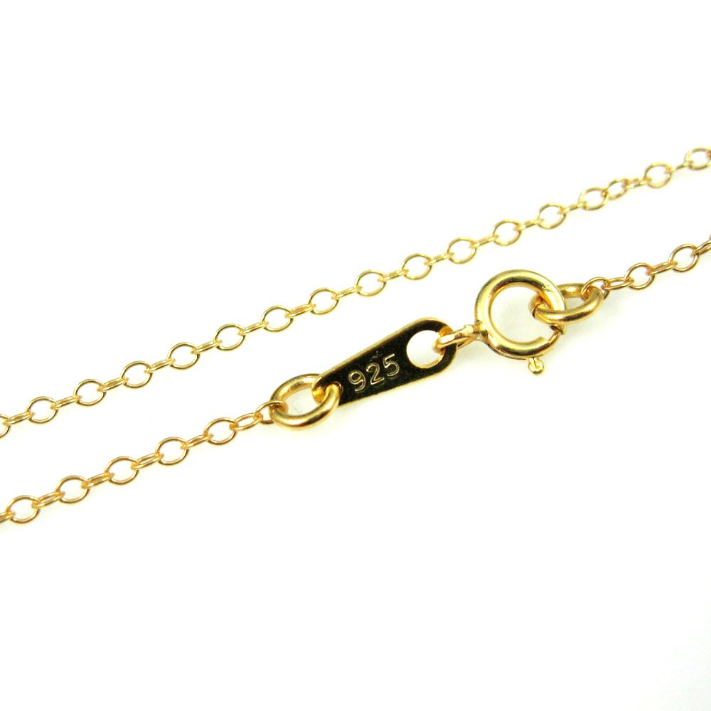 Gold Necklace - 22k Gold Plated over Sterling Silver Chain - 2mm Cable Chain Necklace - Vermail - Finished For Pendant  -All Sizes