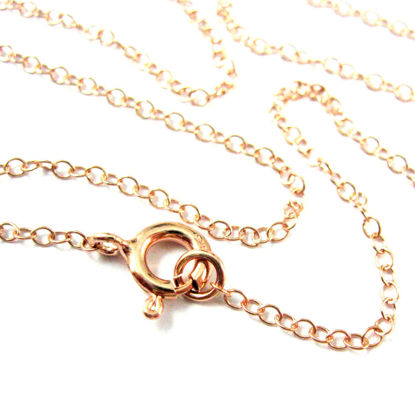 Rose Gold Necklace - Rose Gold Plated over Sterling Silver Chain - 2mm Cable Chain Necklace - Finished For Pendant  -All Sizes