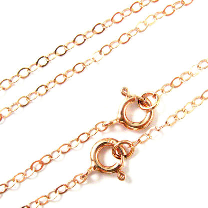 Rose Gold plated Silver Necklace - 925 Italian Sterling Silver Necklace Chain - 2.5 x 2mm Light Flat Cable - Long Necklace - All Sizes