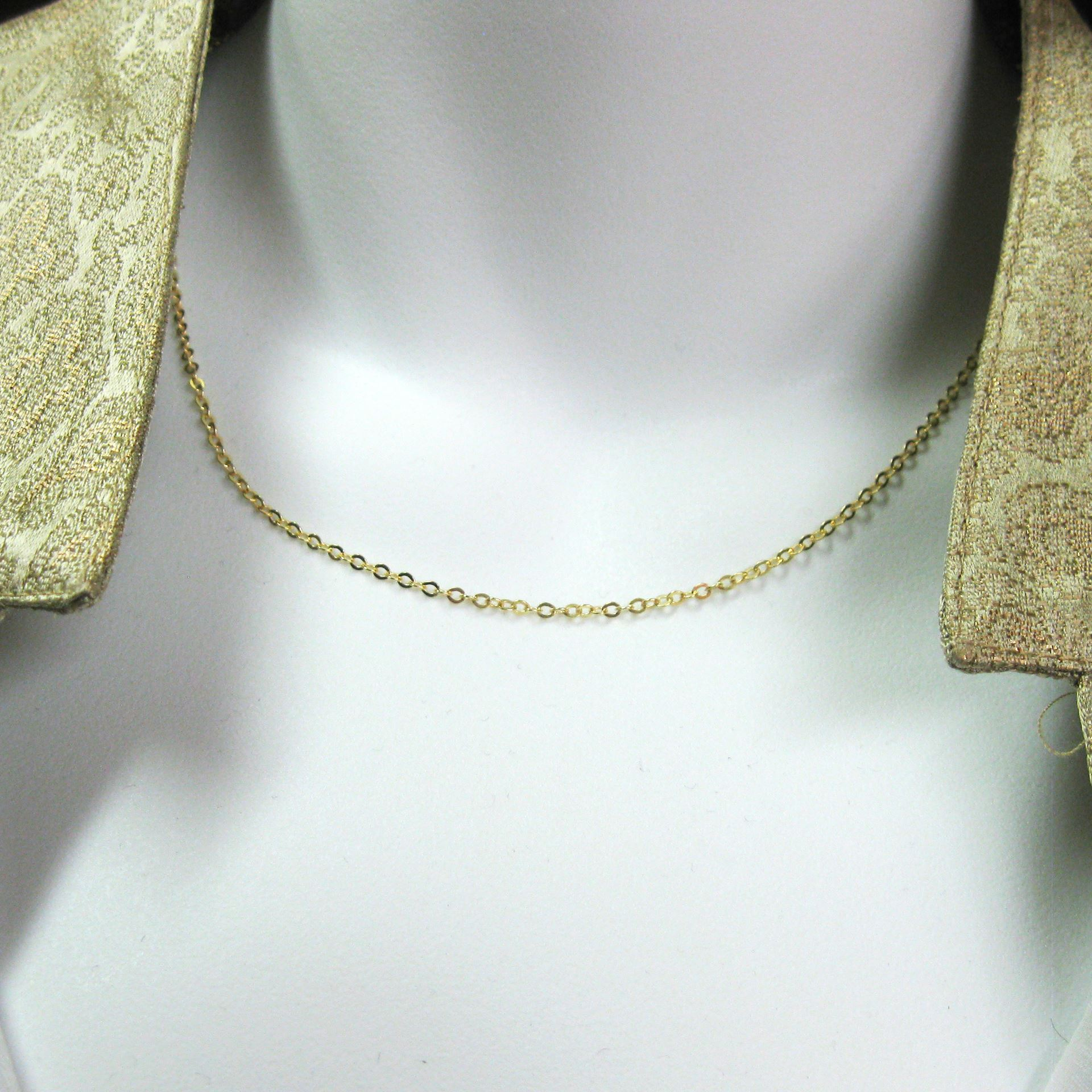 22K Gold plated Sterling Silver Necklace Chain - Bracelet Chain - Anklet Chain - 2.3mm Strong Flat Cable -All Sizes