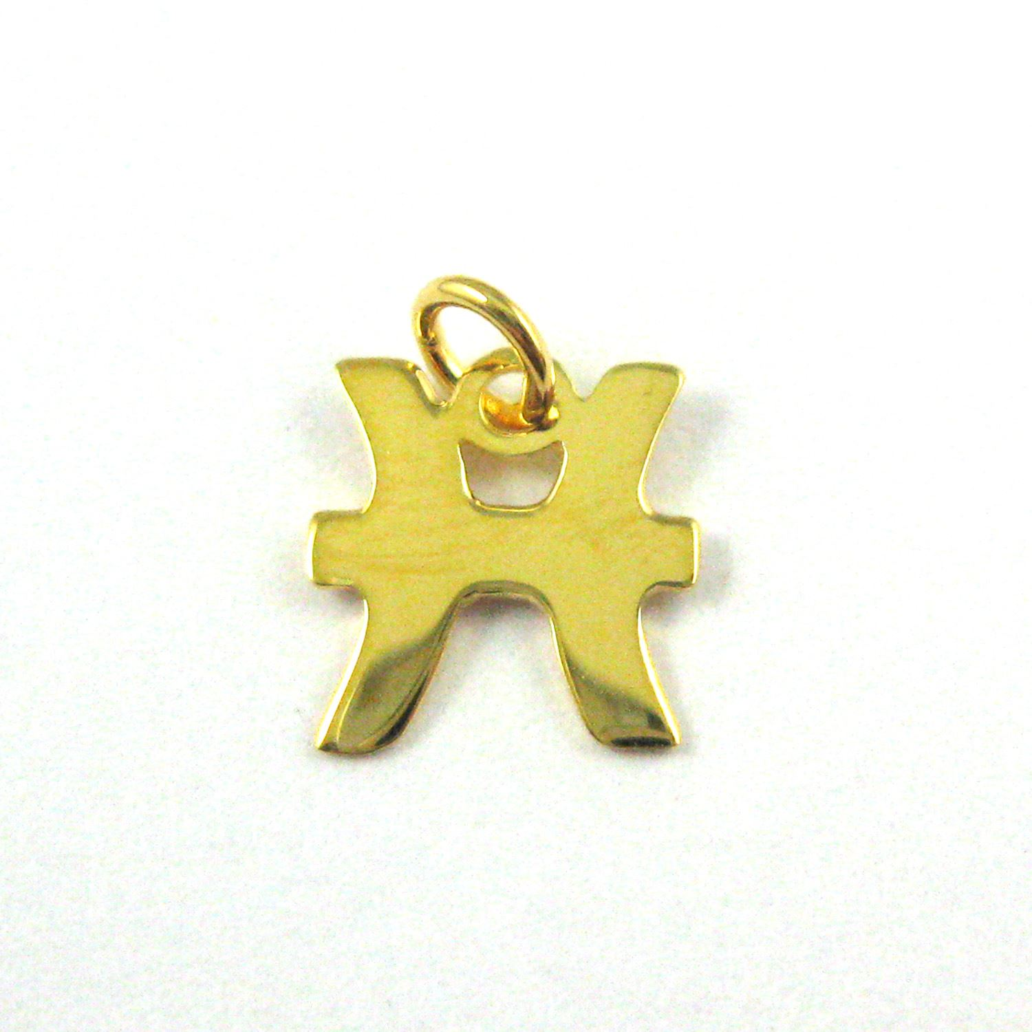 22K Gold plated Sterling Silver Horoscope Charms, High Polish Vermeil Zodiac Sign Charm