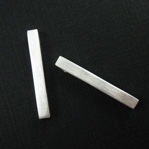 Silver Bar Pendant, 925 Sterling Silver Long Bar Pendant Connector, Long Silver Bar Charm,Hollow Rectangle Bar -30mm ( 1 pc)