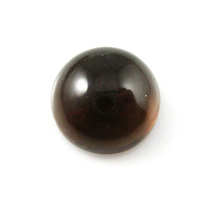 Cabochon Smokey Quartz Round ( 3 pieces)