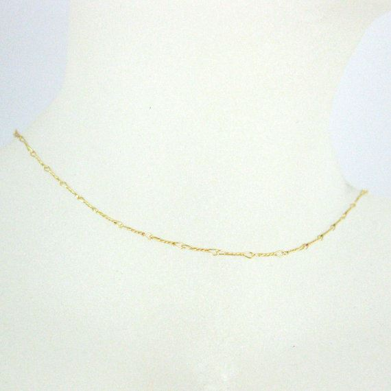 22k Gold Plated Over 925 Sterling Silver Vermeil Chain Necklace Fancy Twisted Link - 6.7mm Twisted Necklace- - All Sizes 16-40 Inches