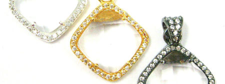 Pave Bezel Diamond Pendants