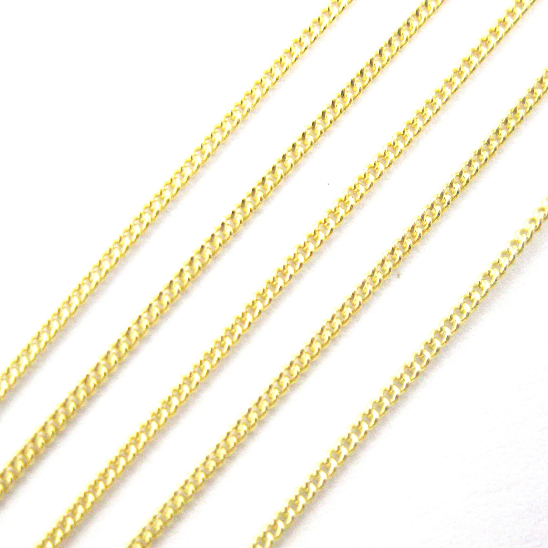 Gold plated Sterling Silver 1mm Tiny Curb Chain. Bulk Unfinished Chain for Jewelry Making. Sold By the Foot