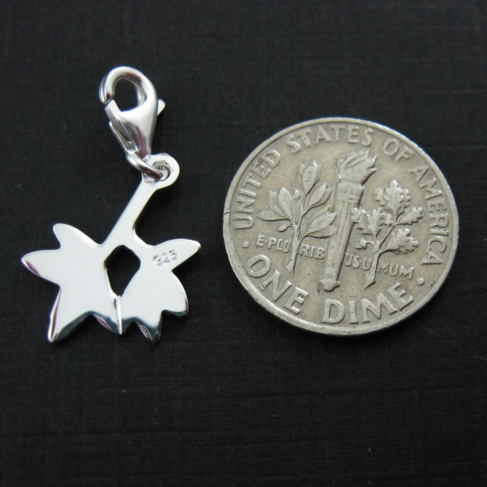 Sterling Silver Tree Charm - Charm with Clasp - Charm Bracelet Charm- Add on Charm
