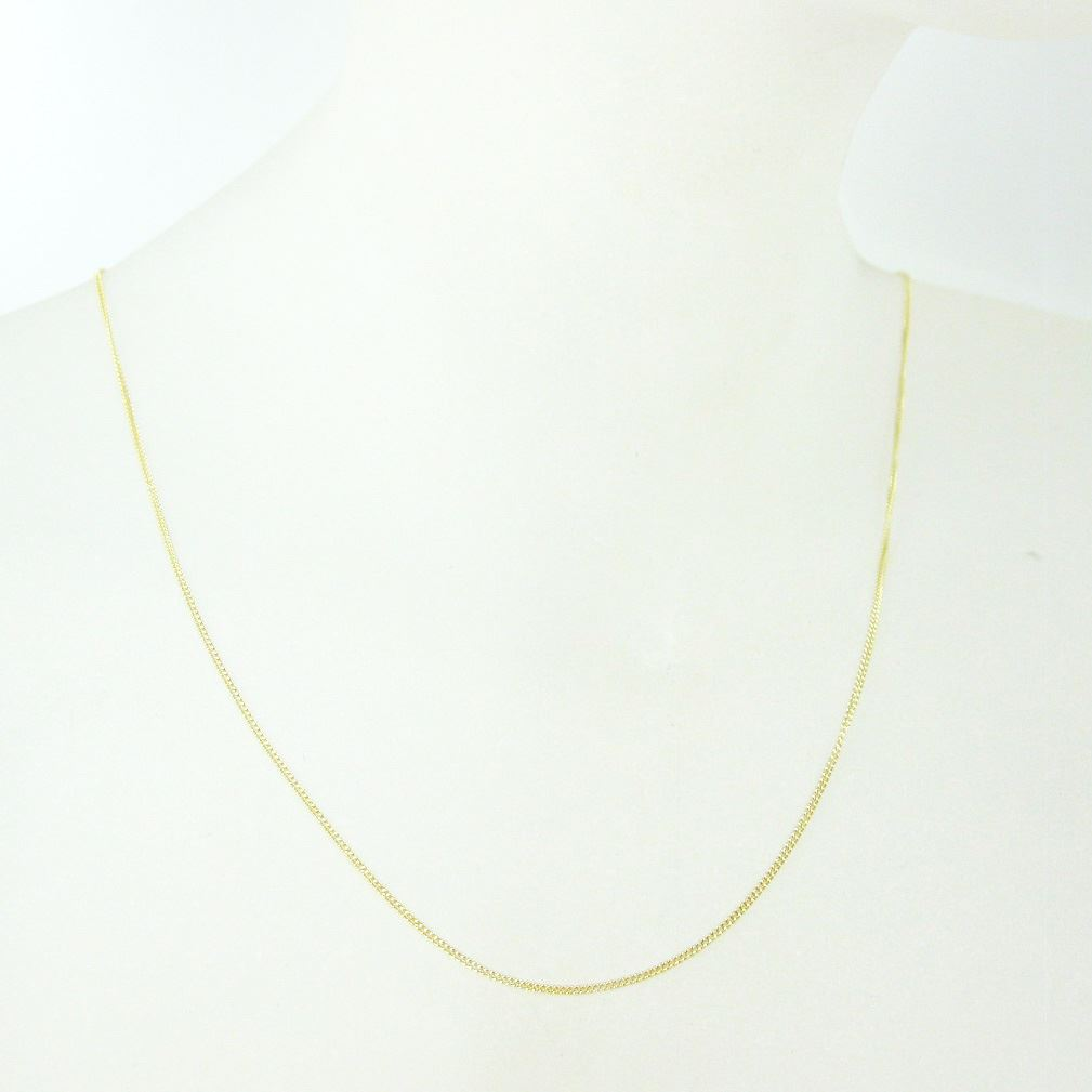 Gold Plated Necklace Chain, Vermeil Sterling Silver Necklace Chain-Bracelet, Anklet - Vermeil Chain Bulk - Tiny Curb Chain-Long Necklace - 22-36 inches
