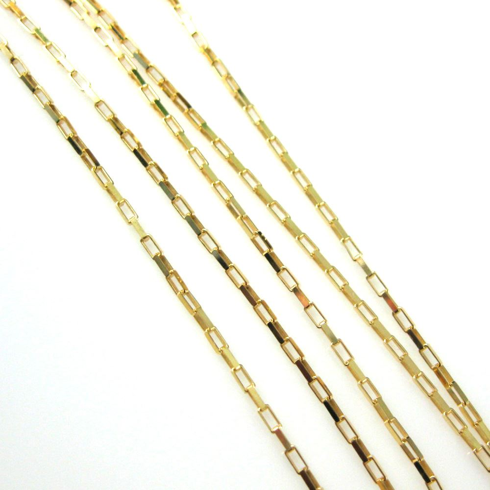 22K Gold plated over Sterling Silver Chain,Vermeil Sterling Silver Bulk Chain-1.5X2.5 Rectangle Chain - Unfinished Bulk Chain (sold per foot)