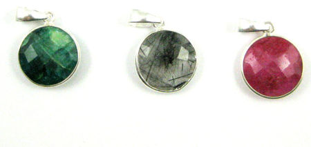 Round Gemstone Pendants