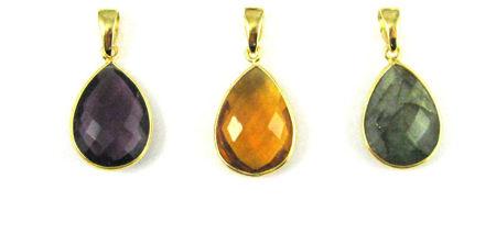 Teardrop Gemstone Pendants