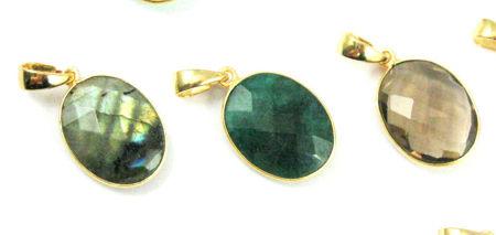 Oval Gemstone Pendants