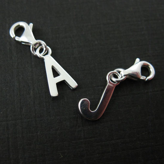Sterling Silver Letter Charms