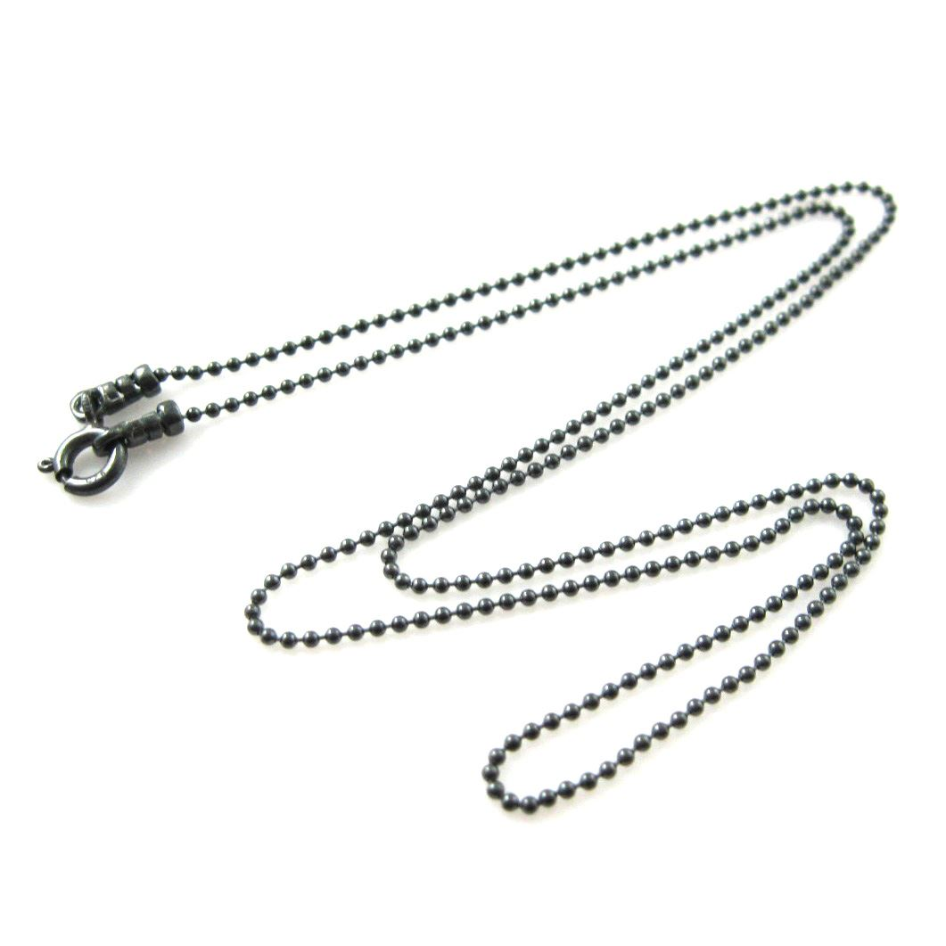Oxidized Sterling Silver Chain Necklace - Oxidized Silver Bracelet Chain - Oxidized Silver Anklet - 1.2mm Ball Chain - Beaded Necklace Chain - Ball Necklace -