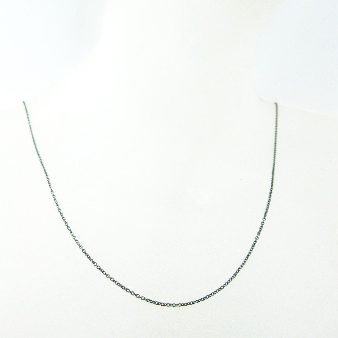 Oxidized Sterling Silver Necklace Chain - Bracelet Chain - Anklet Chain - Tiny Plain Cable Oval - Long Necklace -All Sizes