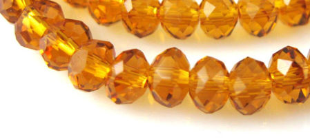 Rondelle Crystal Glass Beads