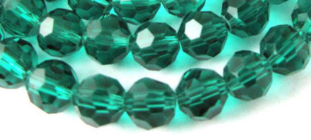 Round Crystal Glass Beads