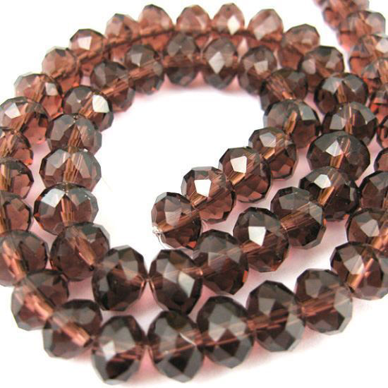 Crystal Glass beads, 6X4mm Faceted Rondelle,Dark Red Violet