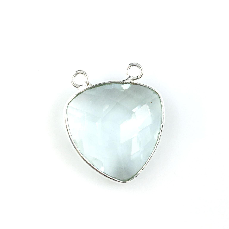 Per 2 Pcs Gemstone Pendant-18mm Faceted Pear Shape Peridot-August Birthstone
