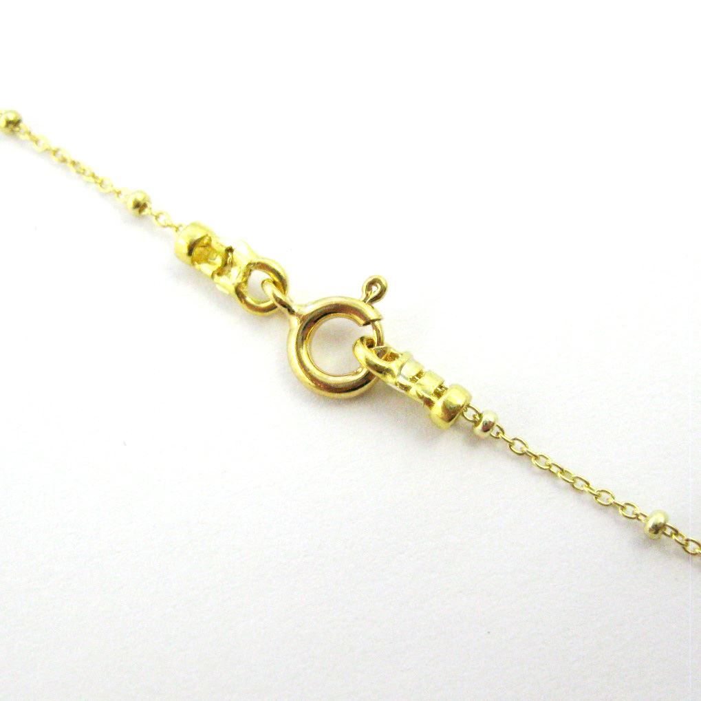 Sodalite Crescent Necklace - Natural Sodalite Arch Necklace - Gold plated Sterling Silver Beaded Necklace Chain
