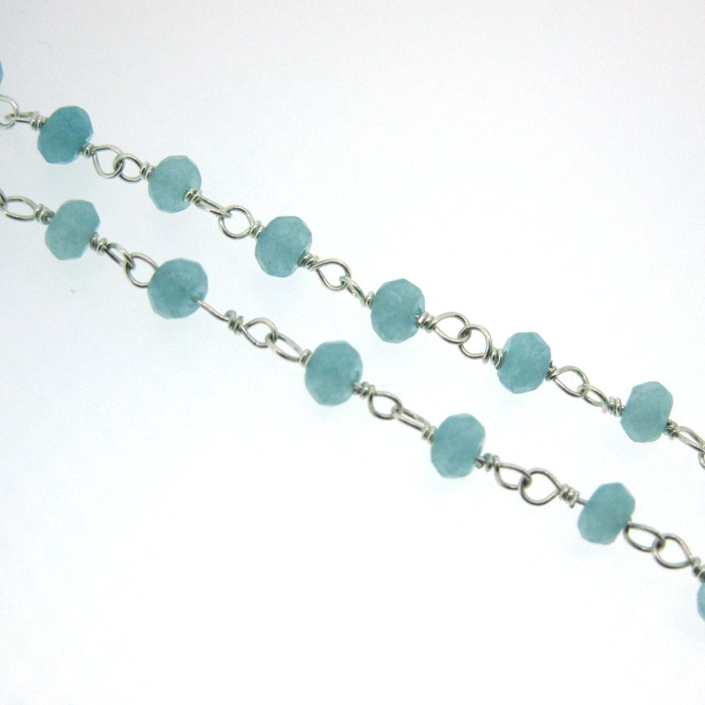 Sterling Silver Peru Rosary Chain By the Foot