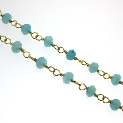 Gold over Sterling Silver Peru Rosary Chain By the Foot
