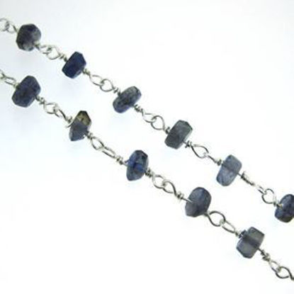 Sterling Silver Iolite Rosary Chain By the Foot
