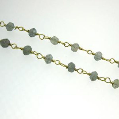 Gold over Sterling Silver Labradorite Rosary Chain By the Foot