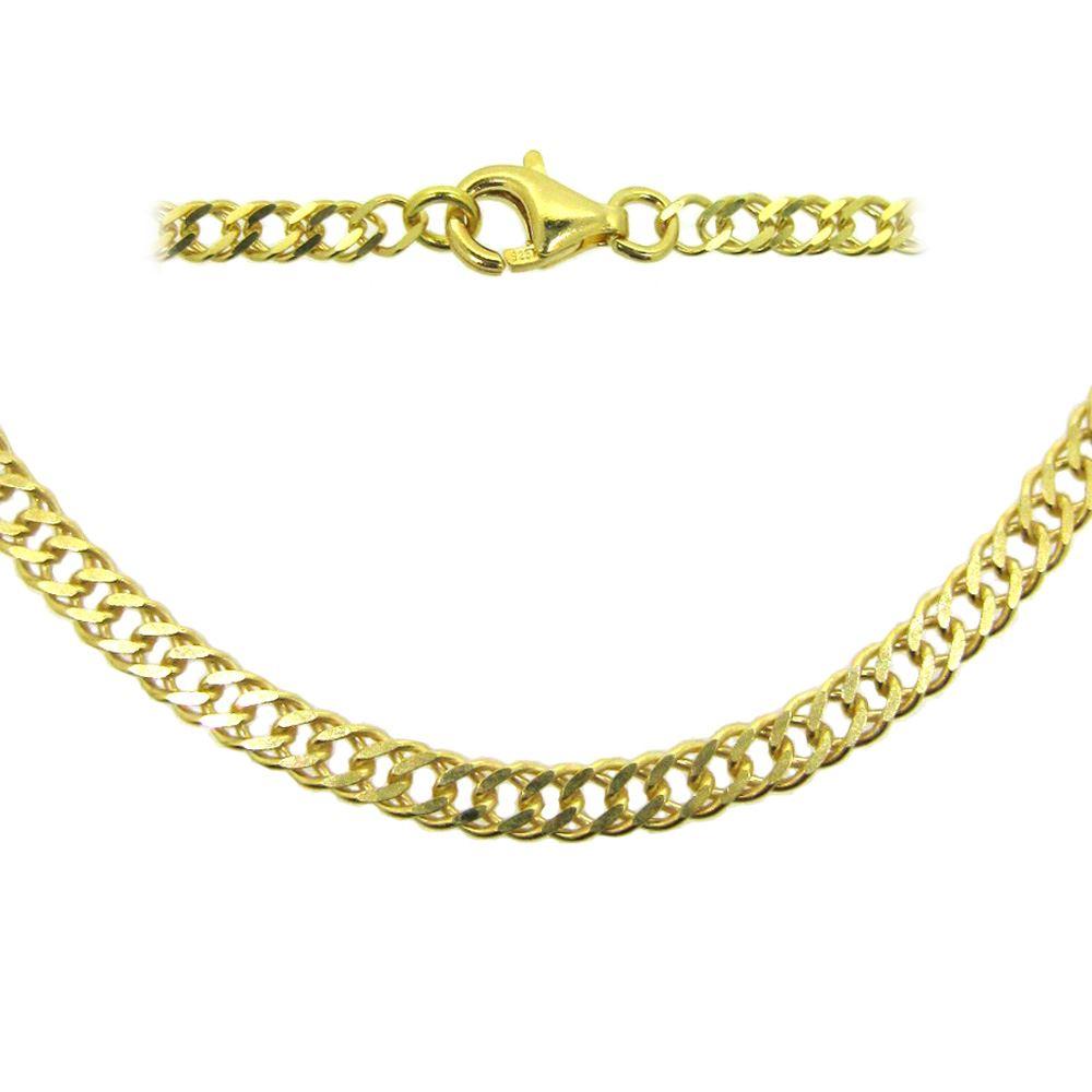 Gold Plated Sterling Silver Necklace Bracelet Anklet