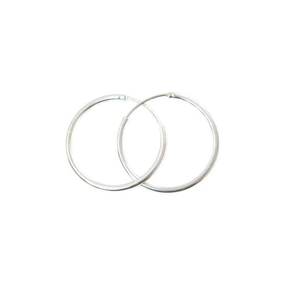 Sterling Silver Earrings- Strong Hoops- 25mm(sold per pair)