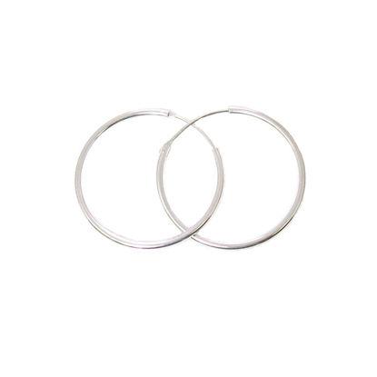Sterling Silver Earrings- Strong Hoops- 30mm(sold per pair)