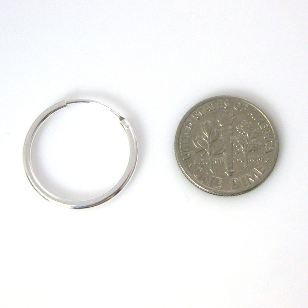 Sterling Silver Earrings- Strong Hoops- 20mm(sold per pair)
