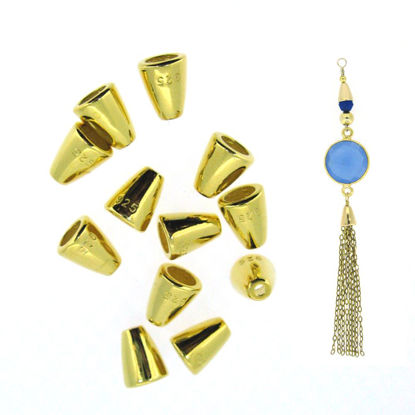22K gold plated over 925 Sterling Silver Findings - Cone Bead Caps - sold per 10 pcs